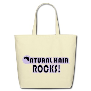 Natural Hair Rocks Bag - Eco-Friendly Cotton Tote