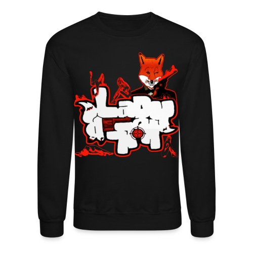 LadyK.LLeR Braille Signature Crew Neck Blk/Red  - Crewneck Sweatshirt
