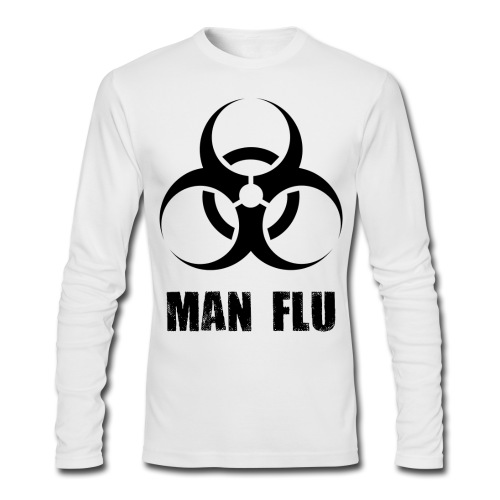 Man Flu - Men's Long Sleeve T-Shirt by Next Level