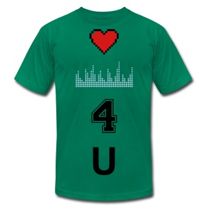 heart beats 4 u tee - Men's Fine Jersey T-Shirt