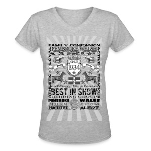 Pembroke Welsh Corgi 'Best in Show' Women's T Shirt  - Women's V-Neck T-Shirt