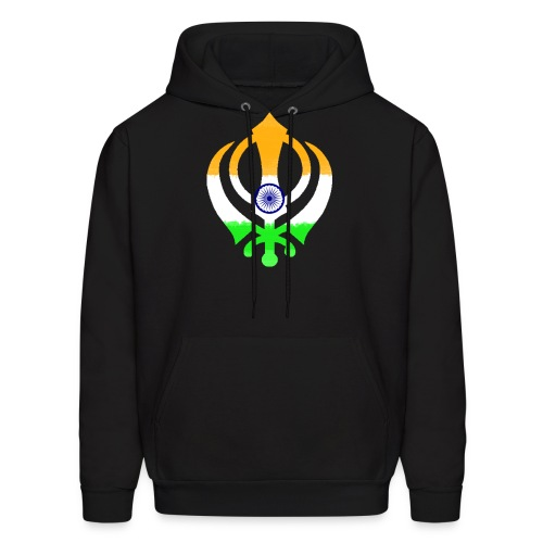 Khanda Indian Flag Sweatshirt - Men's Hoodie