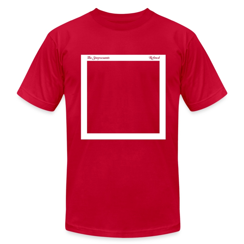 "Mens ""Record Sleeve"" Logo Tee Red - Men's T-Shirt by American Apparel"