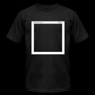 "T-Shirts ~ Men's T-Shirt by American Apparel ~ Mens ""Record Sleeve"" Logo Tee Black"
