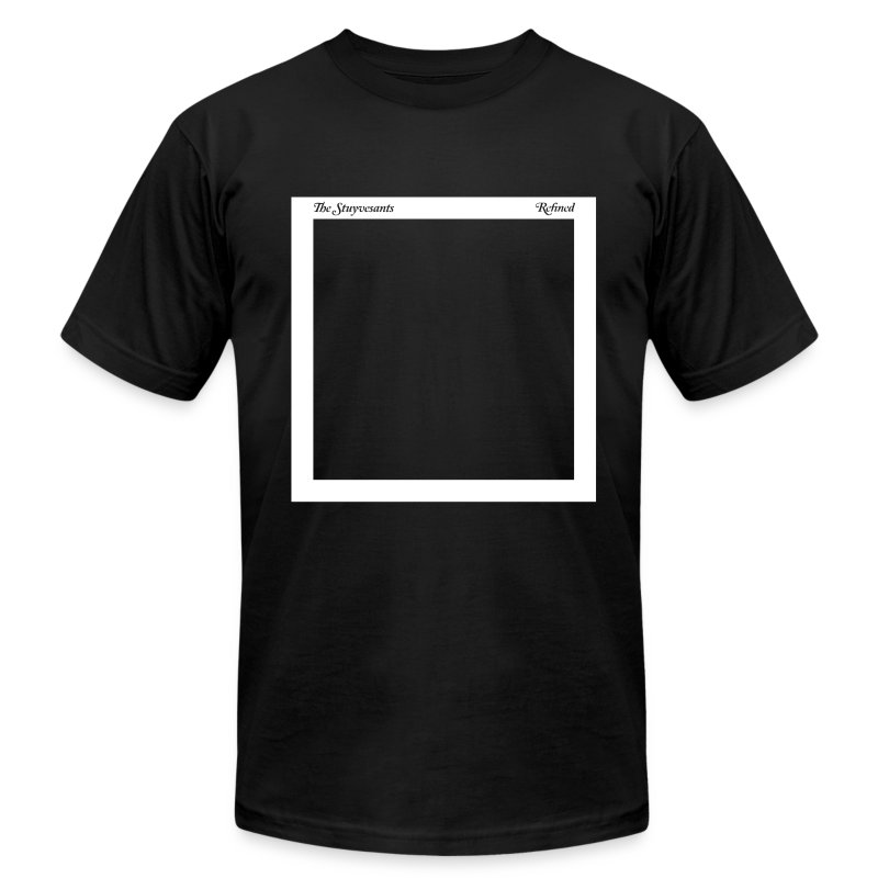 "Mens ""Record Sleeve"" Logo Tee Black - Men's T-Shirt by American Apparel"