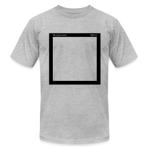 "Mens ""Record Sleeve"" Logo Tee Gray - Men's T-Shirt by American Apparel"