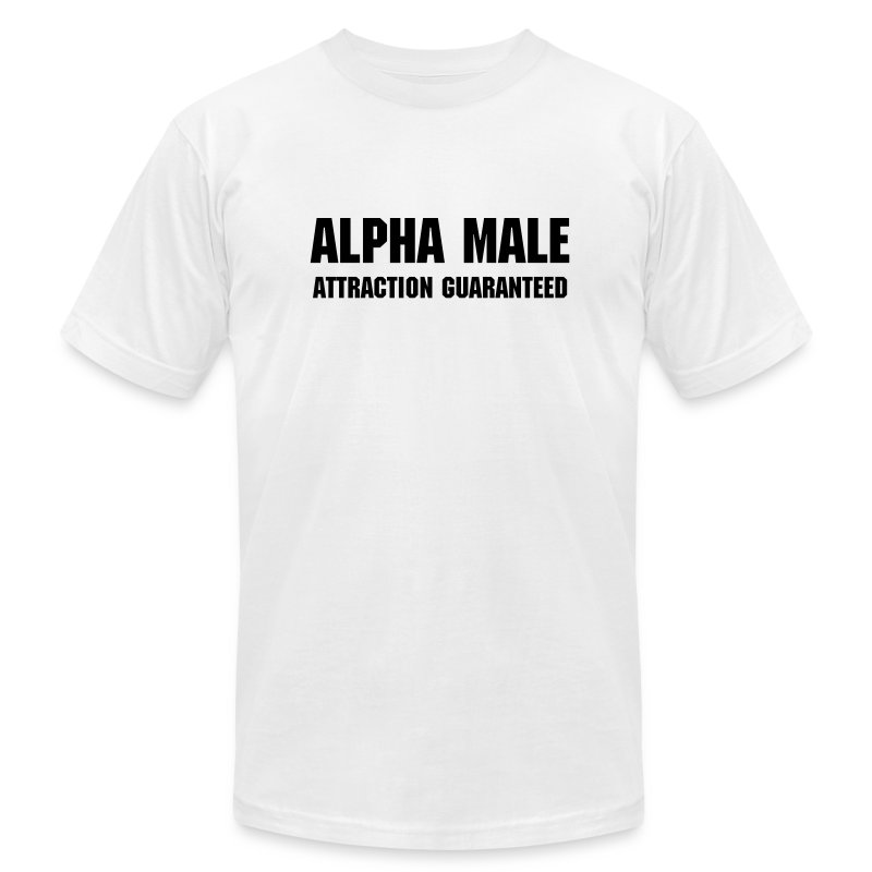 Alpha Male T-shirt - Men's T-Shirt by American Apparel