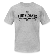 "T-Shirts ~ Men's T-Shirt by American Apparel ~ Mens ""The Stuyvesants"" Logo Tee Gray"