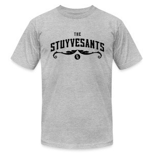 "Mens ""The Stuyvesants"" Logo Tee Gray - Men's T-Shirt by American Apparel"