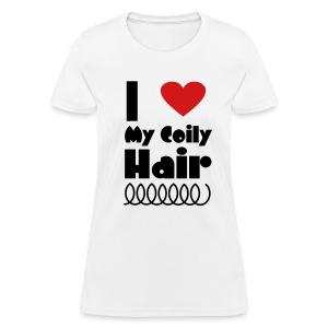 I Love My Coily Hair T Shirt - Women's T-Shirt
