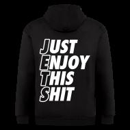 Zip Hoodies & Jackets ~ Men's Zip Hoodie ~ Just Enjoy This Shit Jets Zip Hoodies/Jackets