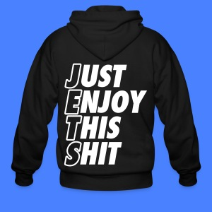Just Enjoy This Shit Jets Zip Hoodies/Jackets - Men's Zip Hoodie