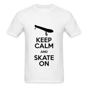 Keep Calm And Skate On - Men's T-Shirt
