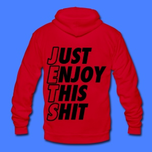 Just Enjoy This Shit Jets Zip Hoodies/Jackets - Unisex Fleece Zip Hoodie by American Apparel