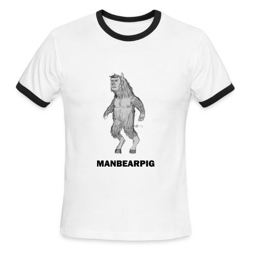 ManBearPig - Men's Ringer T-Shirt