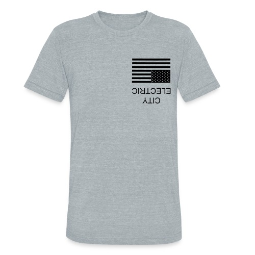 ELECTRIC CITY x UNITED STATES OF AWESOME - Unisex Tri-Blend T-Shirt
