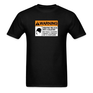 (religion) WARNING FACEPALMING  - Men's T-Shirt