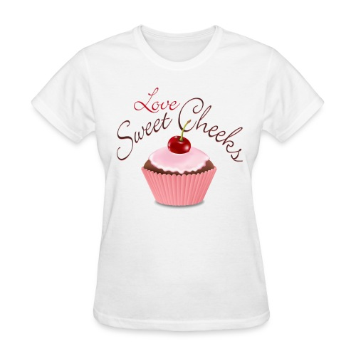 Sweet Cheeks with Cubcake - Women's T-Shirt