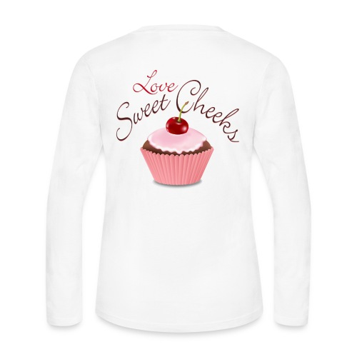 Sweet Cheeks with Cubcake - Women's Long Sleeve Jersey T-Shirt