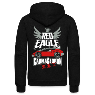 Zip Hoodies & Jackets ~ Unisex Fleece Zip Hoodie by American Apparel ~ Red Eagle