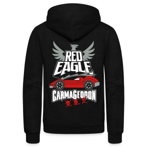 Red Eagle  - Unisex Fleece Zip Hoodie by American Apparel