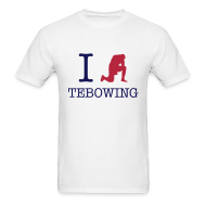 T-Shirts ~ Men's T-Shirt ~ I (Tebowing) Tebowing (White) T-Shirt