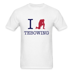 I (Tebowing) Tebowing (White) T-Shirt - Men's T-Shirt