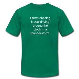 Storm chaser - Men's T-Shirt by American Apparel