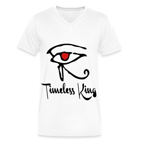 Timeless King Eye of Horus VNeck Tee - Men's V-Neck T-Shirt by Canvas