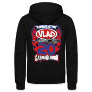 Zip Hoodies & Jackets ~ Unisex Fleece Zip Hoodie by American Apparel ~ Vlad