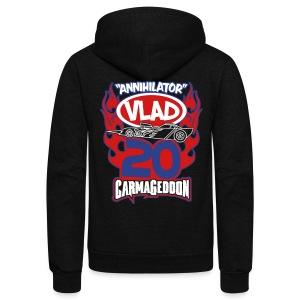 Vlad - Unisex Fleece Zip Hoodie by American Apparel