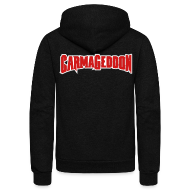 Zip Hoodies & Jackets ~ Unisex Fleece Zip Hoodie by American Apparel ~ Carmageddon logo