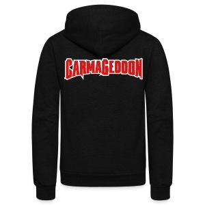 Carmageddon logo - Unisex Fleece Zip Hoodie by American Apparel