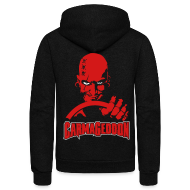Zip Hoodies & Jackets ~ Unisex Fleece Zip Hoodie by American Apparel ~ Carmageddon Logo & Max
