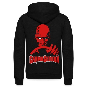 Carmageddon Logo & Max - Unisex Fleece Zip Hoodie by American Apparel