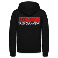 Zip Hoodies & Jackets ~ Unisex Fleece Zip Hoodie by American Apparel ~ Reincarnation