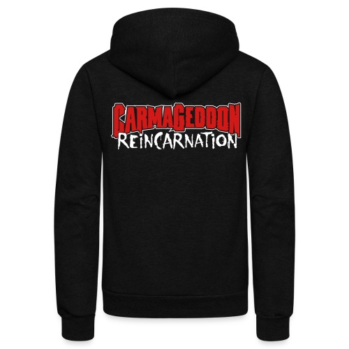 Reincarnation - Unisex Fleece Zip Hoodie by American Apparel
