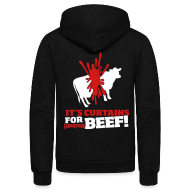 Zip Hoodies & Jackets ~ Unisex Fleece Zip Hoodie by American Apparel ~ Beef!
