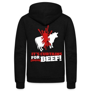 Beef! - Unisex Fleece Zip Hoodie by American Apparel
