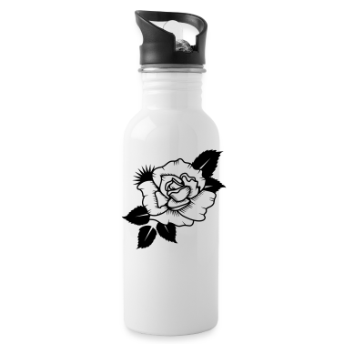 A Drawn Rose Bottles & Mugs