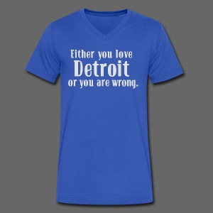 Detroit or Wrong - Men's V-Neck T-Shirt by Canvas