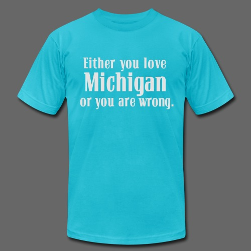 Michigan or Wrong - Men's T-Shirt by American Apparel