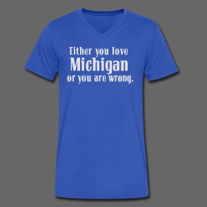 Michigan or Wrong - Men's V-Neck T-Shirt by Canvas