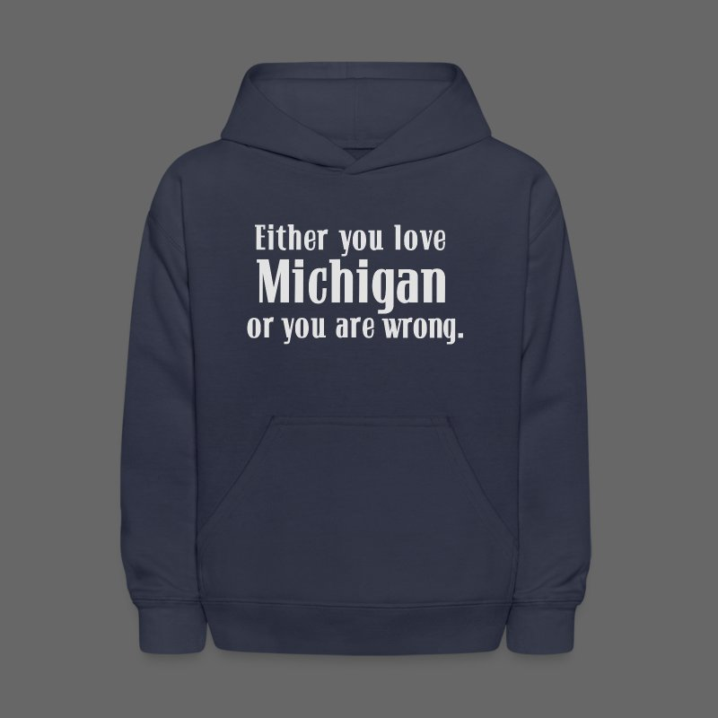 Michigan or Wrong - Kids' Hoodie