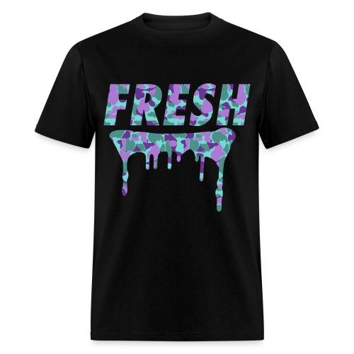 FRESH Blue & Purple Camo T-Shirt - Men's T-Shirt