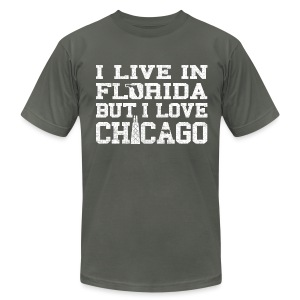 Live Florida Love Chicago - Men's Fine Jersey T-Shirt