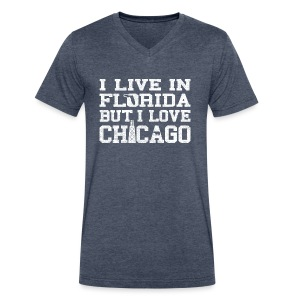 Live Florida Love Chicago - Men's V-Neck T-Shirt by Canvas