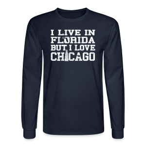 Live Florida Love Chicago - Men's Long Sleeve T-Shirt