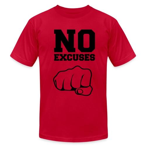 No Excuses/Blk Ink - Men's Fine Jersey T-Shirt