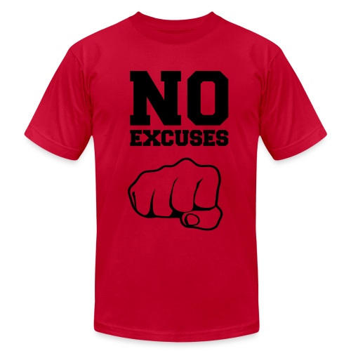 No Excuses/Blk Ink - Men's  Jersey T-Shirt